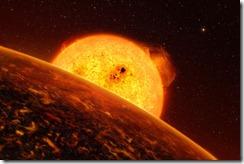 Imagem 05: Ilustração de futuros planetas a serem descobertos pela sonda CoRoT
