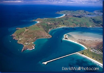 Taiaroa Head, Otago Peninsula, Aramoana and entrance to Otago Harbour, near Dunedin