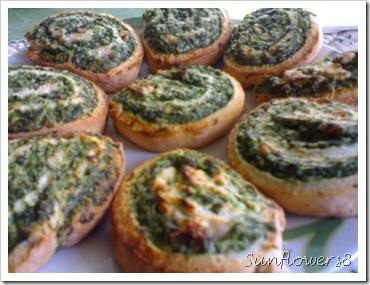 Girelle di spinaci, feta e noci