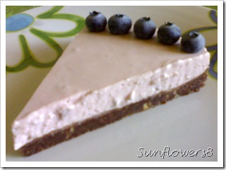 Torta fredda mirtilli e lamponi