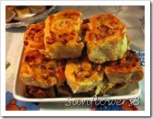 Torta di rose salame e formaggio 3