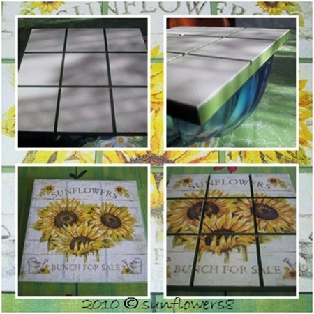 Decoupage sunflower