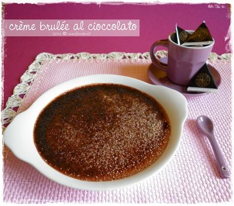 Creme brulee al cioccolato