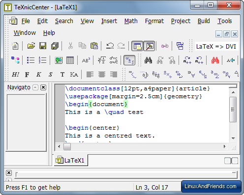 TeXnicCenter LaTeX Editor
