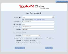 Enter your email account information