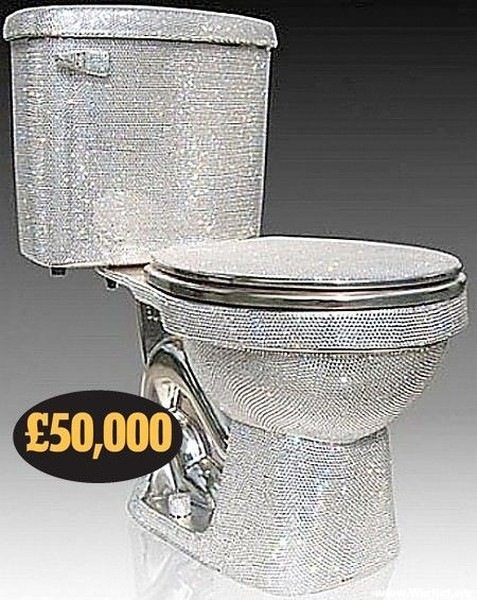 $76,000 - toilet encrusted with high quality crystals