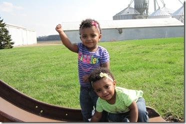 Jada and Adia enjoy Spring! 081