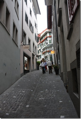 Day 1 small gasse in Zurich