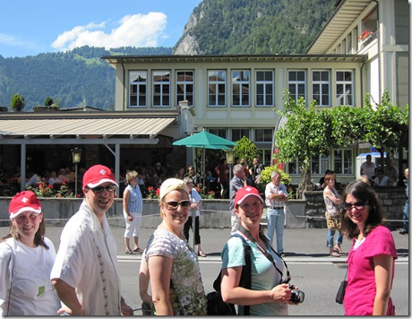 Day 8 Interlaken parade group