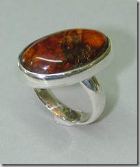 Amber-Silver-Ring