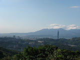 Eastern Taipei with Yangmingshan in the background