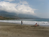 at the beach in Taidong