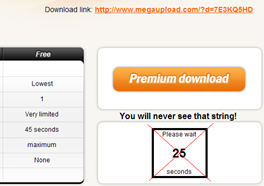 megaupload skip time wait