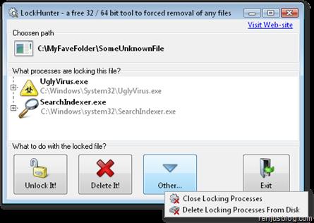 remove files unable to delete