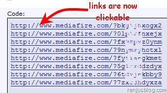 clickable text links