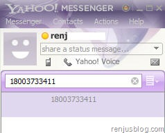 free call to mobile with yahoo messenger