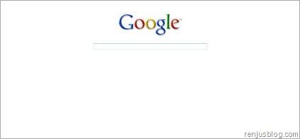 google's new homepage design