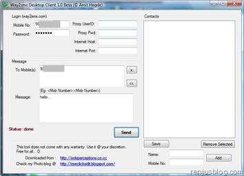 way2sms desktop client