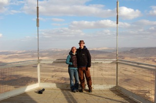 In Mitzpe Ramon the town overlooking the canyon