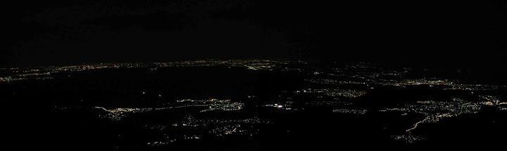 Vista nocturna desde La Maliciosa (dir. S.)
