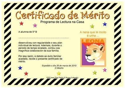Diploma leona lectora