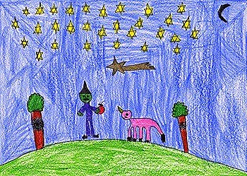 O unicornio e a bruxa malvada, de Noelia