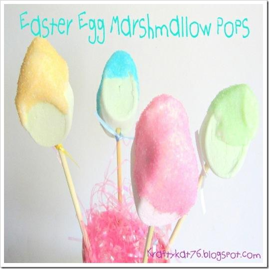 easter egg marshmallow pops text