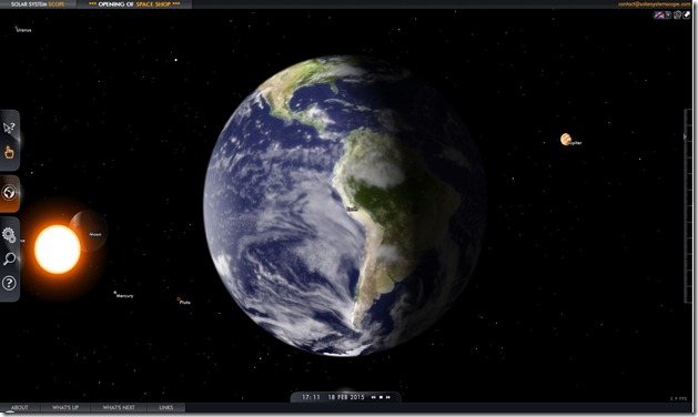 sistema solar geocentric view