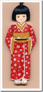 Girl with Kimono Ornament