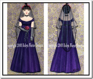 Goth Bride Ornament