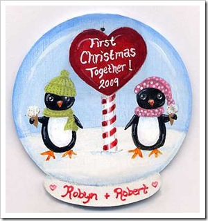 Peguin Snow Globe Ornament - Free Pattern!