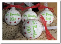 Custom Glass ornament set - San Fransistas