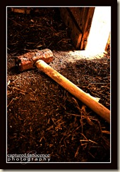 Sledge Hammer On Barn Floor
