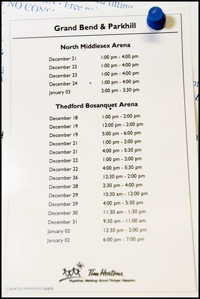 skating schedule