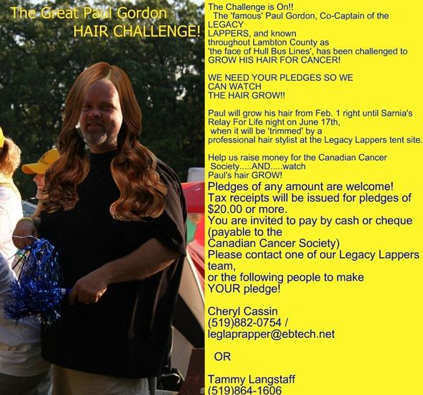 Paul Gordon Hair Challenge 2011