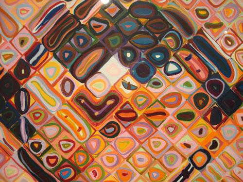 chuck close, detail of self-portrait 2000