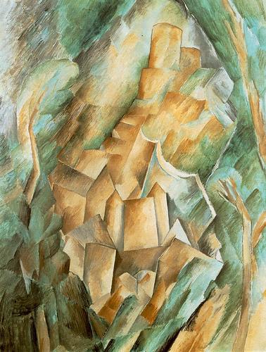 Georges Braque, castle at La Roche-Guyon