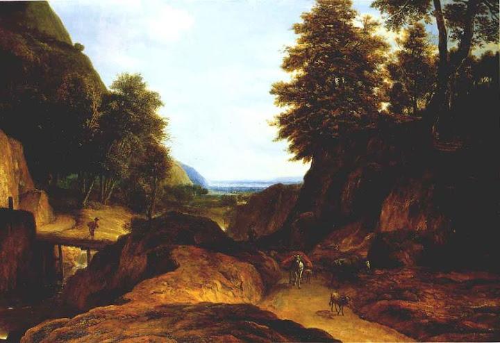 Roelant Roghman, vallei met reizigers