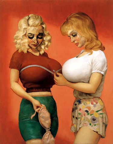 john currin, the bra shop