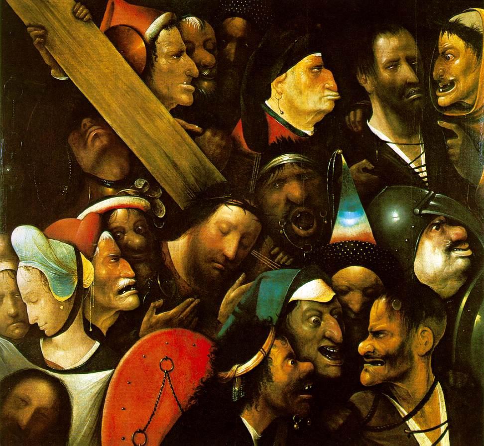 hieronymus bosch, christus draagt het kruis