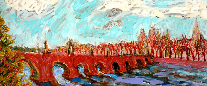 nostalgic cityscape, own work, partly after kokoschka
