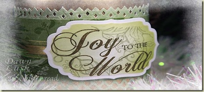 JoytotheWorld Candle closeup frosted