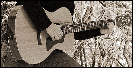 just guitar sepia