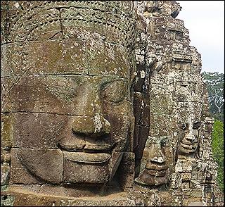 esculpidos del templo de Bayon