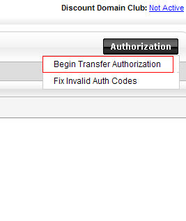 Begin Transfer Authorization