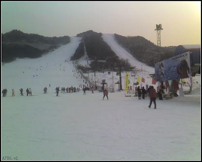 弓长岭雪道全景