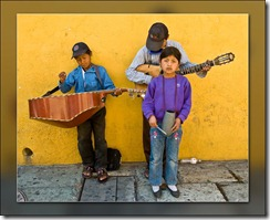 Working for a living on the streets of Oaxaca, Mexico.