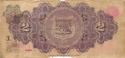 Billetes De Mexico. BILLETE DE MEXICO