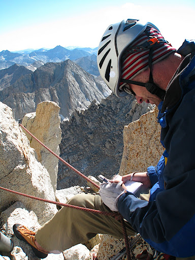Signing the summit register