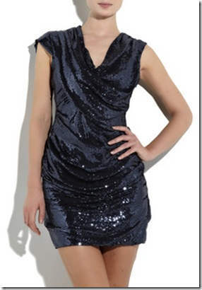 Alexander Wang Draped Sequined Mini Dress